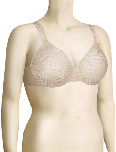 Olga Sheer Leaves Minimizer Bra 35519 - Butterscotch