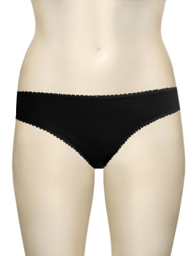 OnGossamer Hip-G Cotton Hipster G-String 1412 - Black