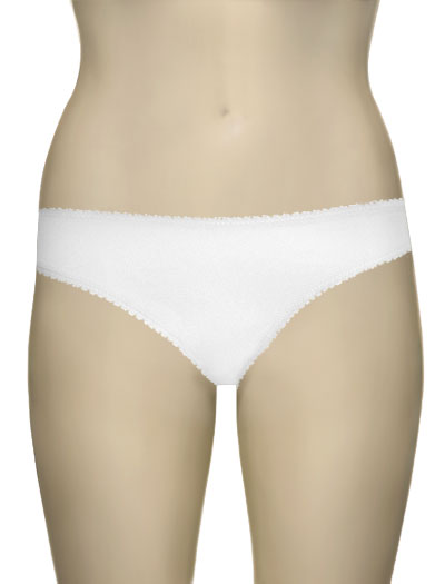 OnGossamer Hip-G Cotton Hipster G-String 1412 - White