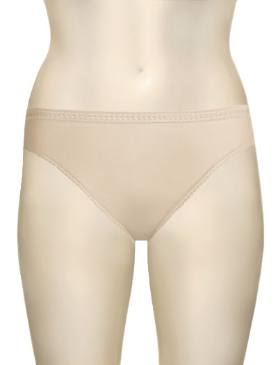 OnGossamer Mesh Hi-Cut Brief 3012 - Champagne