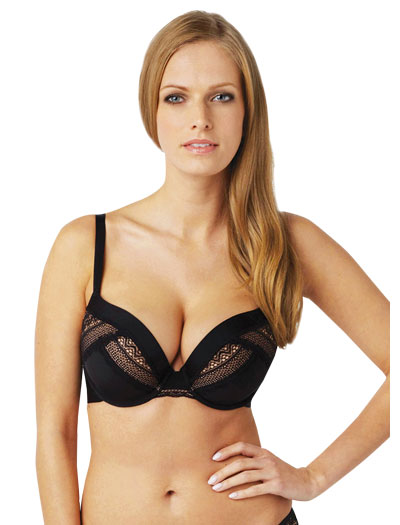 Panache Black Aria Moulded Plunge Bra 8086 - Black
