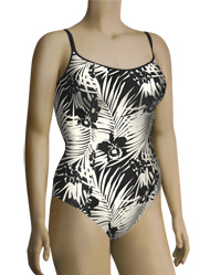Panache Claudette Underwire Swimsuit SW0650 - Black / Ivory