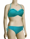 Panache Cleo Betty Underwire Frilled Bandeau Bikini Top CW0033 - Aquamarine