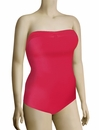Panache Cleo Dolly Underwire Bandeau Swimsuit CW0020 - Strawberry