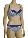 Panache Cleo Lucille Underwire Balconnet Bikini Top CW0064 - Nautical Stripe