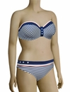 Panache Cleo Lucille Underwire Bandeau Bikini Top CW0063 - Nautical Stripe