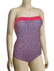 Panache Cleo Pippa Underwire Bandeau Swimsuit CW0050 - Boat Print
