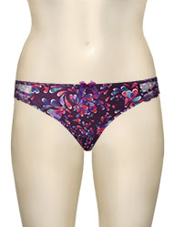 Panache Fern Thong 6299 - Plum Multi