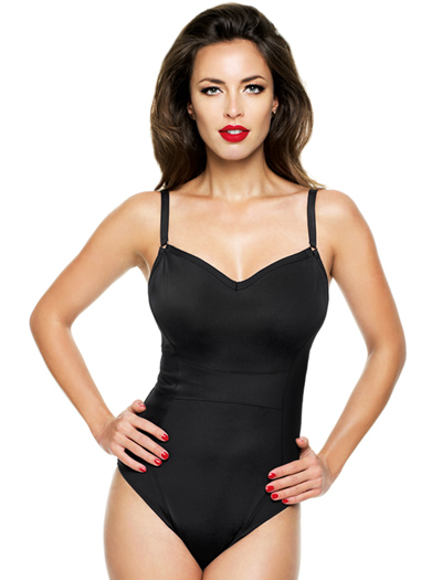 Panache Isobel Underwire One Piece Swimsuit SW0760 - Black