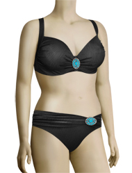 Panache Lola Underwire Moulded Bikini Top SW0721 - Black