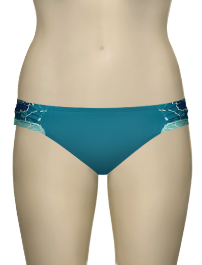 Panache Loren Gathered Pant SW0514 - Teal Floral