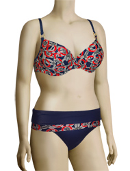 Panache Nancy Underwire Balconnet Bikini Top SW0772 - Nautical Print