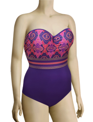 Panache Savannah Underwire Padded Bandeau Swimsuit SW0780 - Gypsy Print