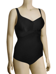 Panache Silhouette Shaping Underwire One Piece Swimsuit SW0790 - Black