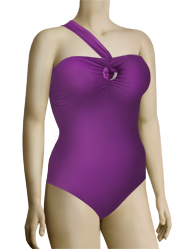 Panache Sophia Underwire One Shoulder Swimsuit SW0630 - Purple