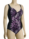 Panache Tallulah Underwire One Piece Swimsuit SW0740 - Purple Animal