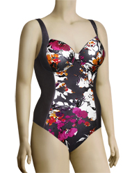 Panache Tallulah Underwire One Piece Swimsuit SW0740 - Charcl. Multi