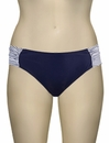 Panache Veronica Gathered Bikini Pant SW0649 - Navy Stripe