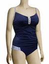 Panache Veronica Underwire Tankini Top SW0641 - Navy Stripe