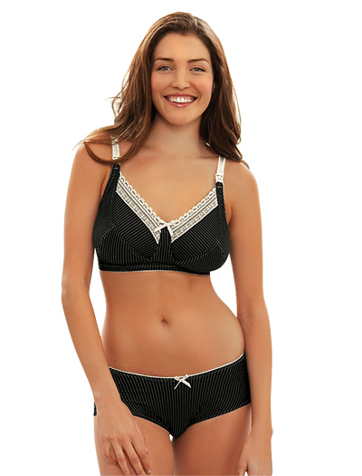 Royce Lauren Soft Cup Nursing Bra 839 - Blk / Cream
