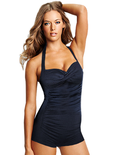 Seafolly Goddess Boyleg Maillot One Piece S10316 - Indigo