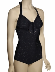 Seafolly Harlow Tie Front Maillot One Piece 10469-589 - Black