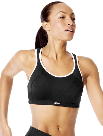 Shock Absorber Max Sports Bra Top B4490 - Black / White