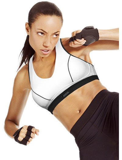 Shock Absorber Pump Sports Bra Top N4246 - White