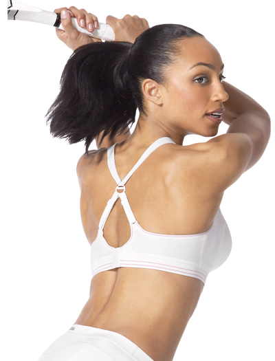 Shock Absorber Racket Sports Bra Top B5047 - White / Pink