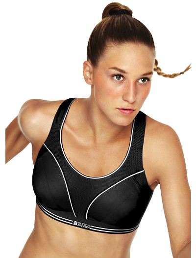 Shock Absorber Run Sports Bra Top B5044 - Black / Silver