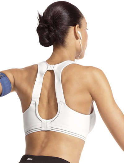 Shock Absorber Run Sports Bra Top B5044 - White / Silver