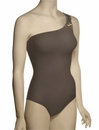 Spanx Golden Touch One Shoulder One Piece Swimsuit 1347 - Pewter