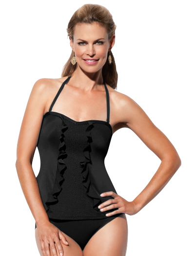 Spanx High Style Classic Bandeau Tankini Top 1020 - Black