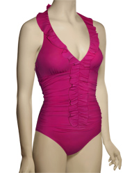 Spanx Long & Lean One Piece Swimsuit 1353 - Berry