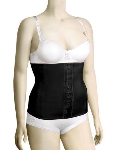 Squeem Firm Compression Cotton & Rubber Waist Cincher 26PW - Black