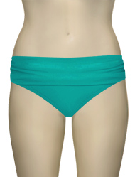 Sunsets Banded Bikini Bottom 27B - Tropical Teal