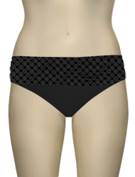 Sunsets Nautical Net Banded Bikini Bottom 27BNNBK - Black