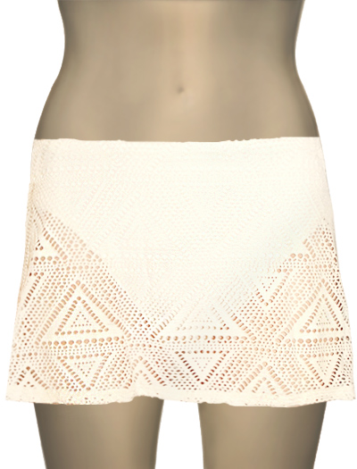 Sunsets Contemporary Swim Skirt W/ Attached Brief 36B - White Choc.