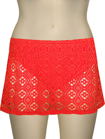 Sunsets Contemporary Swim Skirt W/ Attached Brief 36B - Melon Drama