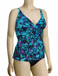 Sunsets Curve Underwire Twist Tankini Top 377T - Sea Glass