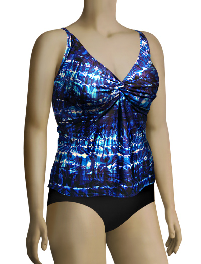 Sunsets Equinox Underwire Twist Tankini Top 377T - Equinox