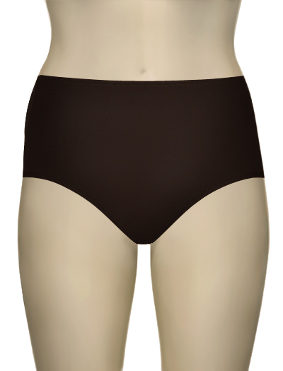 Sunsets Solid High Waist Brief 97B - Dk Chocolate