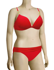 Sunsets Molded Cup Bra Bikini Top 80T - Ruby