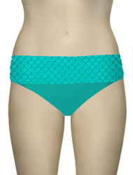 Sunsets Nautical Net Banded Bikini Bottom 27BNNTR - Tropical Teal