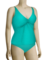 Sunsets Nautical Net Underwire Twist Tankini 377TNNTR - Tropical Teal