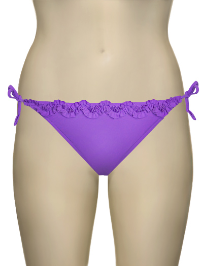 Sunsets Ruffle Tie Side Bikini Bottom 8B - Lavender