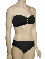 Sunsets Soft Cup Tab Front Bandeau Bikini Top 69T - Black