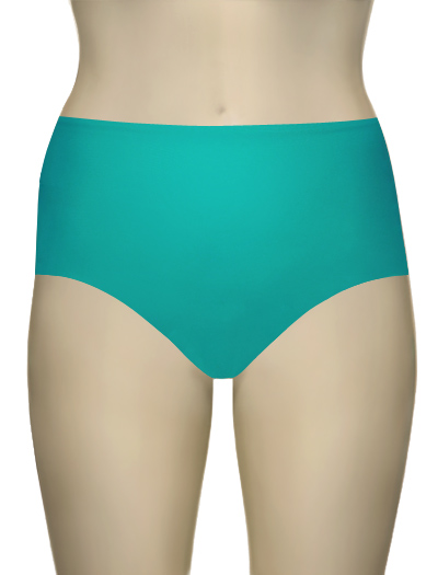 Sunsets Solid High Waist Brief 97B - Tropical Teal