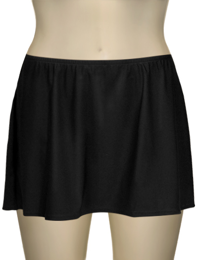 Sunsets Solid Skirted Swim Bottom 96B - Black