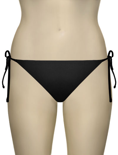 Sunsets Tie Side Bikini Brief 10B - Black